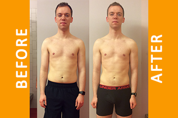 Hugo – 12 Weeks Personal Training – Lost 4.5kg Fat Gained 1.5kg Muscle